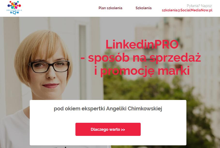 Szkolenie LinkedIn w praktyce prowadząca Angelika Chimkowska
