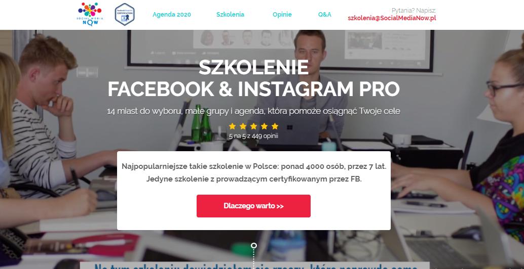 Szkolenie Facebook & Instagram PRO