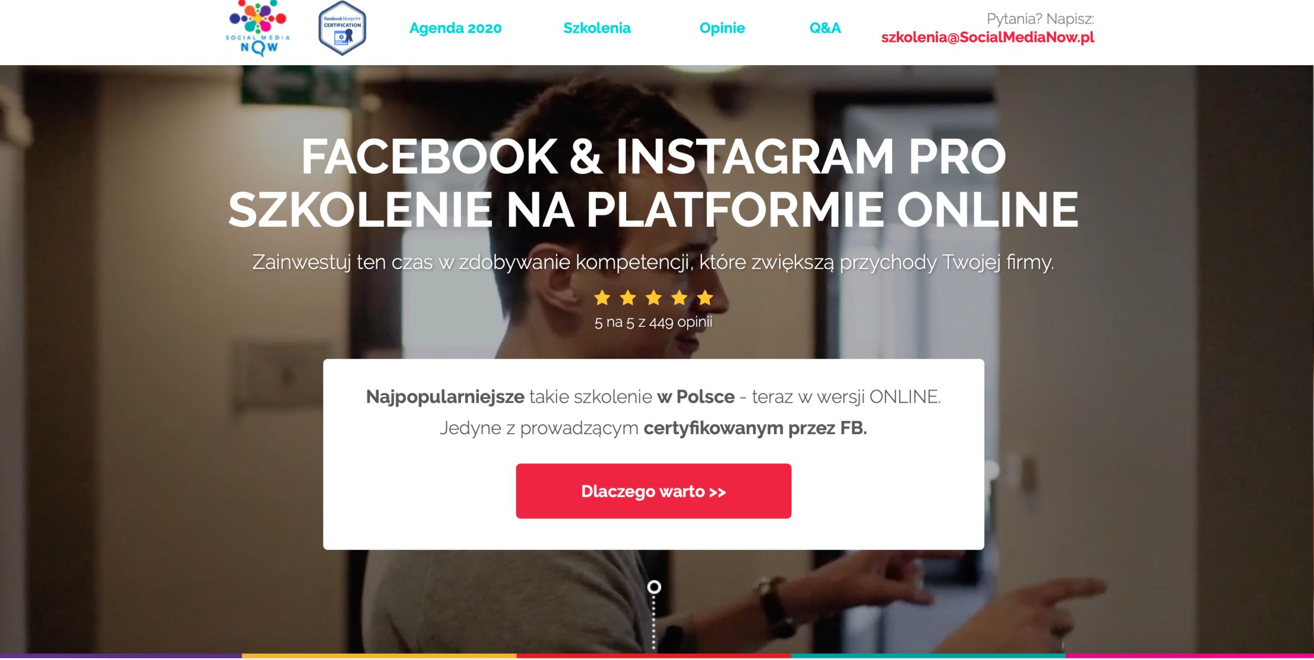 Szkolenie Facebook & Instagram PRO online