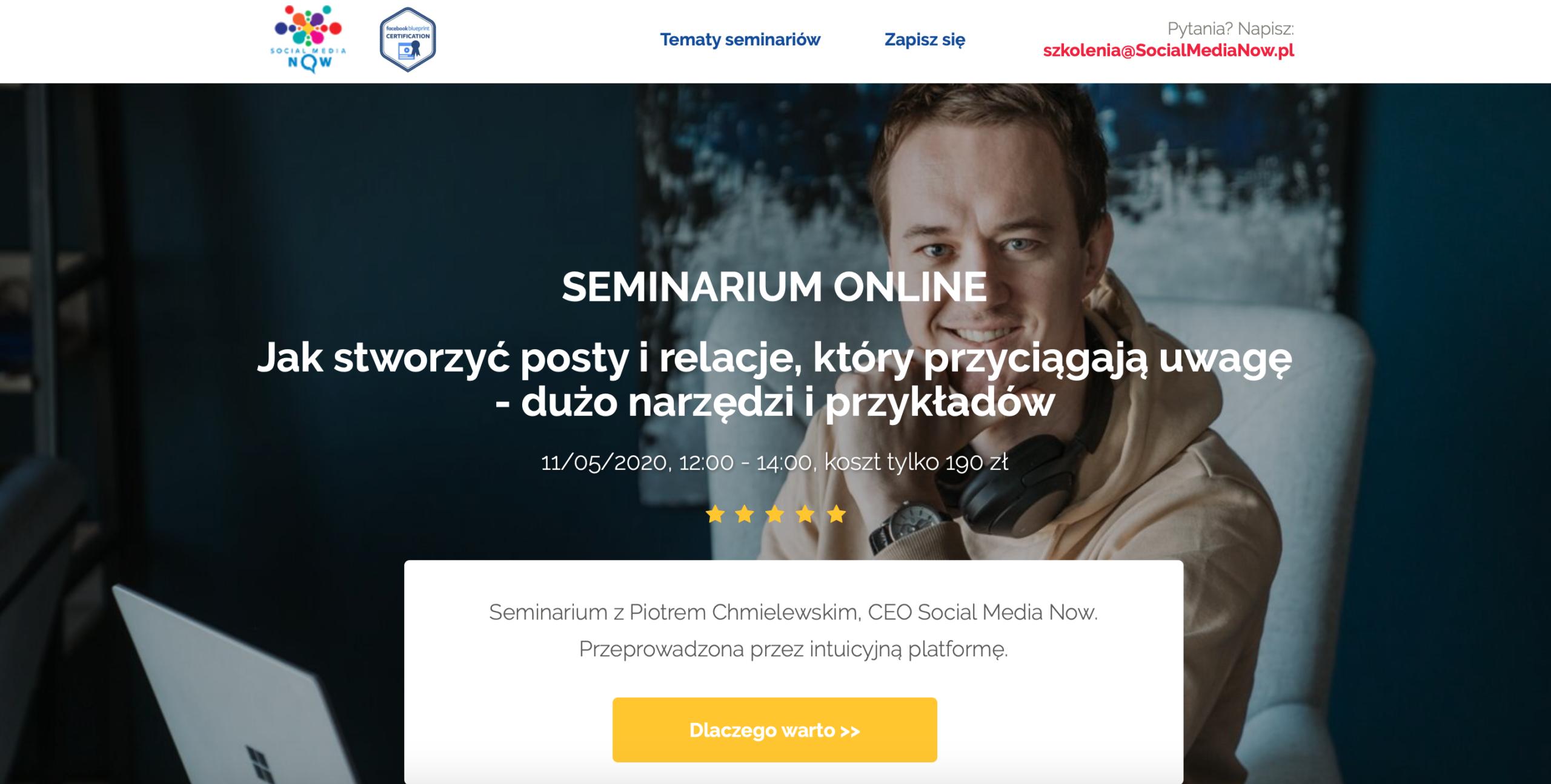 Seminarium online