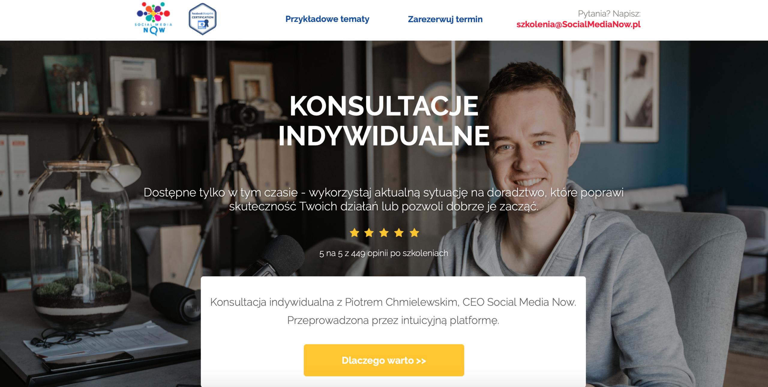 Konsultacje indywidualne z Piotrem Chmielewskim