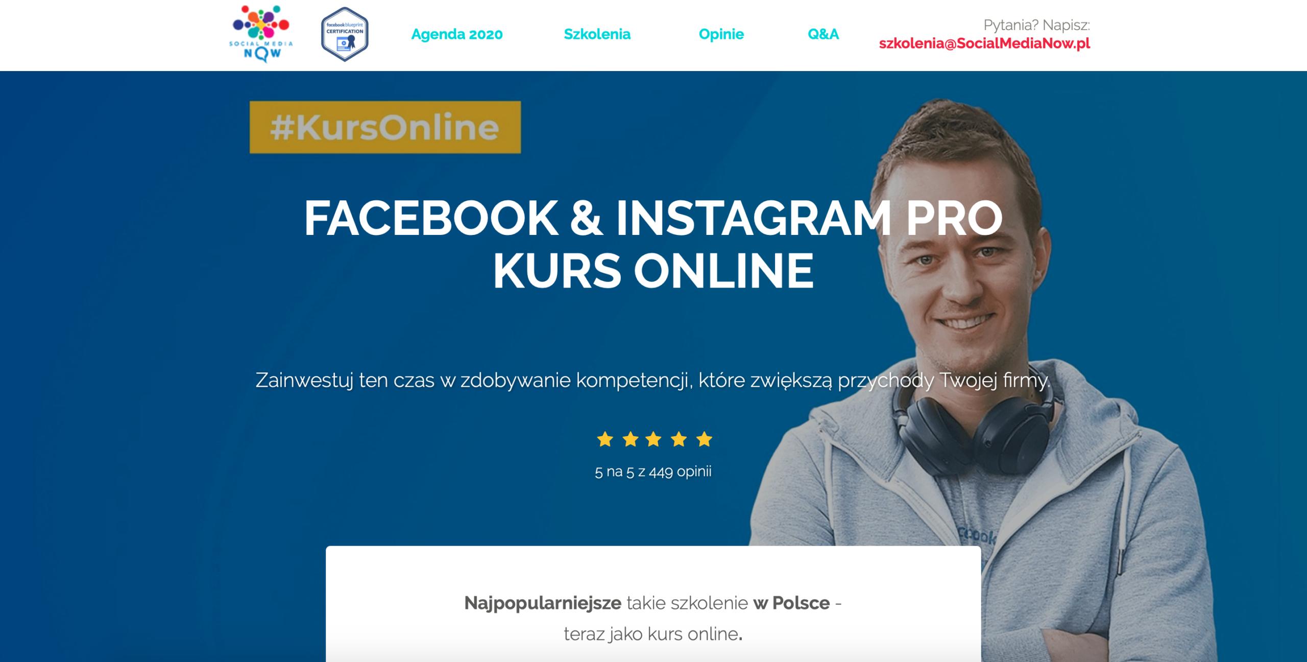 Kurs online Facebook & Instagram PRO